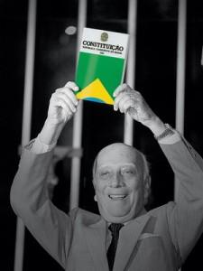 Constituição Federal prevê como garantia a liberdade provisória ao preso em flagrante (foto: Ulysses Guimarães, revista época)