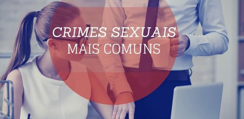 Os crimes sexuais mais comuns