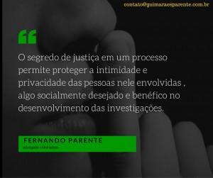 crimes em segredo de justiça